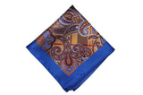 Richmond Blue Silk Pocket Square