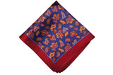 Richmond Maroon Silk Pocket Square