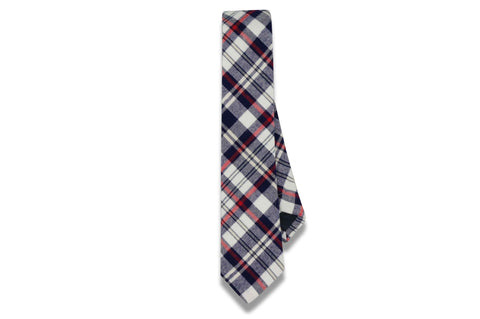 Riley Blue Cotton Skinny Tie