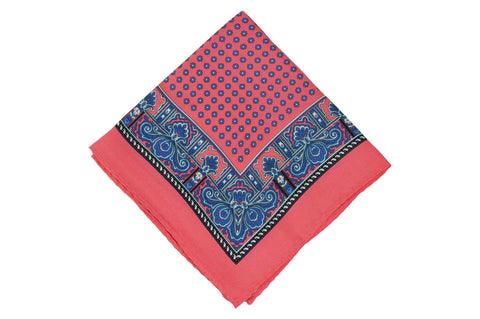 Rouge Pink Silk Pocket Square