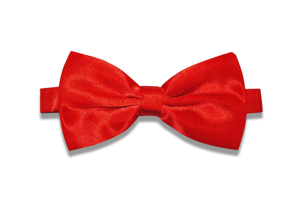 Scarlet Red Bow Tie (pre-tied)