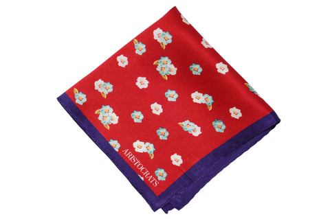 Scattered Flowers Silk Pocket Squares