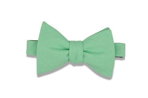 Seafoam Green Cotton Bow Tie (self-tie)