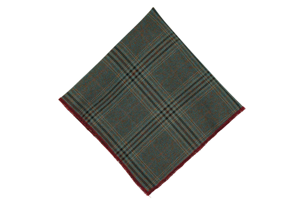 Shade Glen Check Cotton Pocket Square