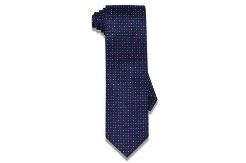 Shady Pink Blues Silk Tie