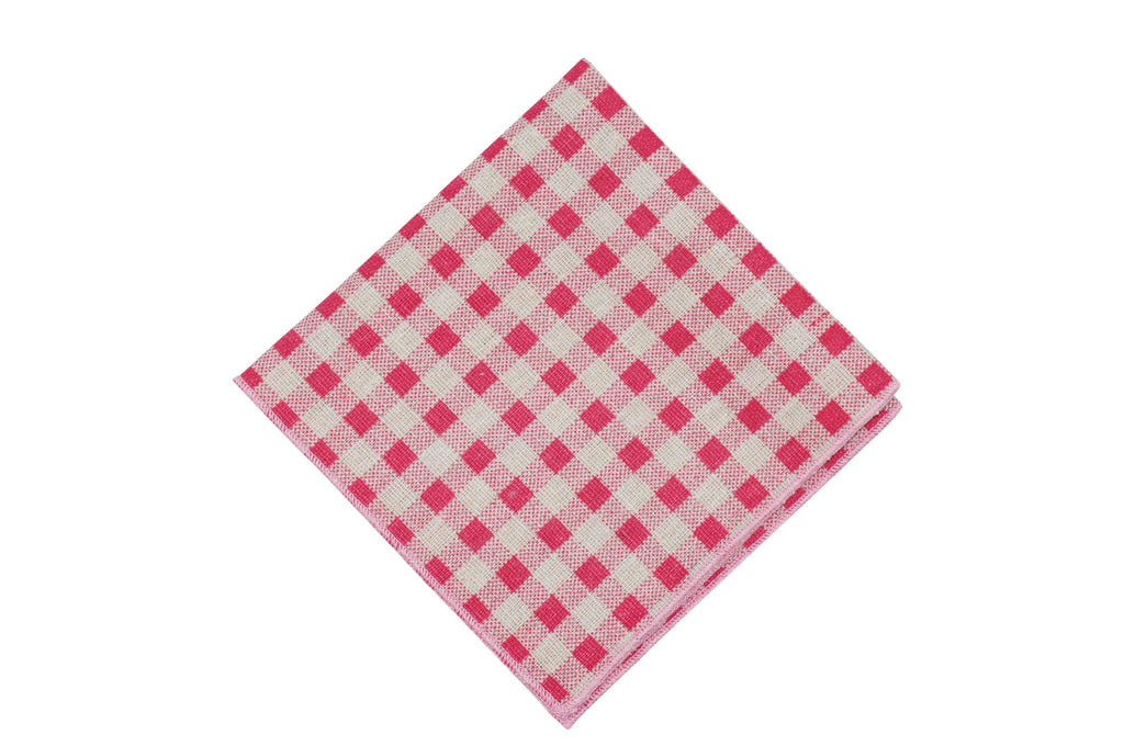 Shortcake Gingham Cotton Pocket Square