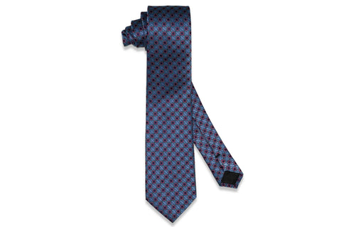 Signature Blue Silk Tie