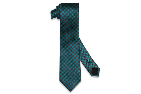 Signature Teal Silk Tie