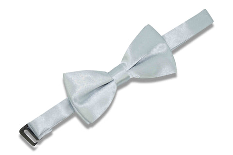 Silver Grey Bow Tie (Boys)