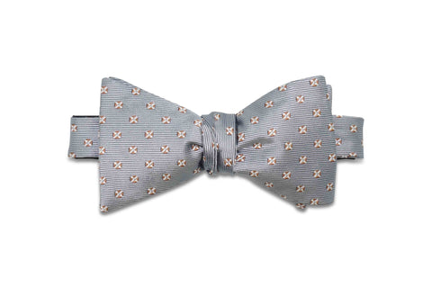Silver Marks Silk Bow Tie (self-tie)