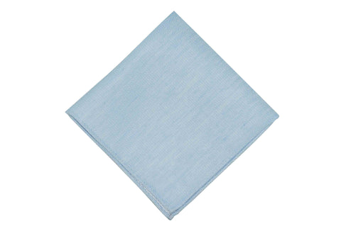 Sky Blue Waves Linen Pocket Square
