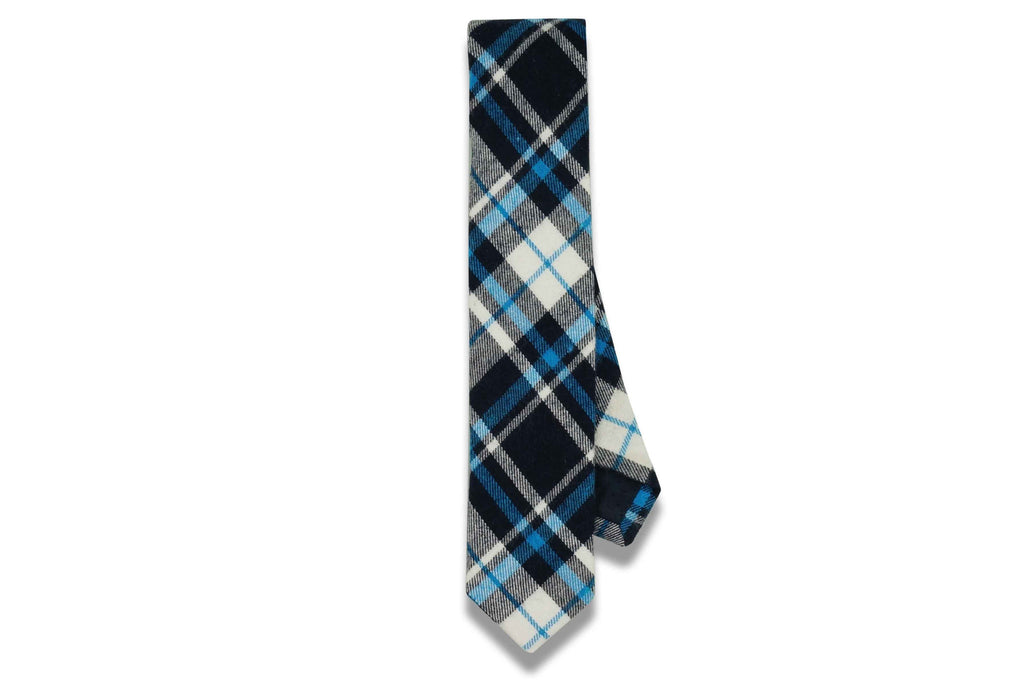 Skylar Blue Cotton Skinny Tie
