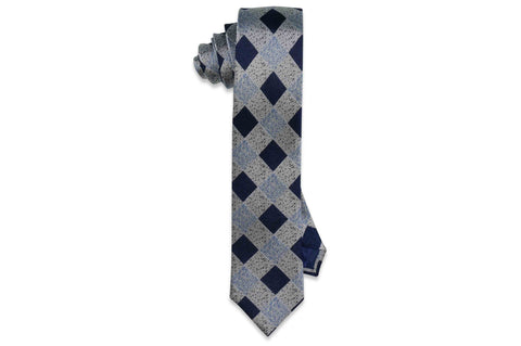 Sprinkle Blocks Silk Skinny Tie