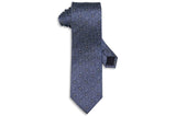 Static Blue Silk Tie
