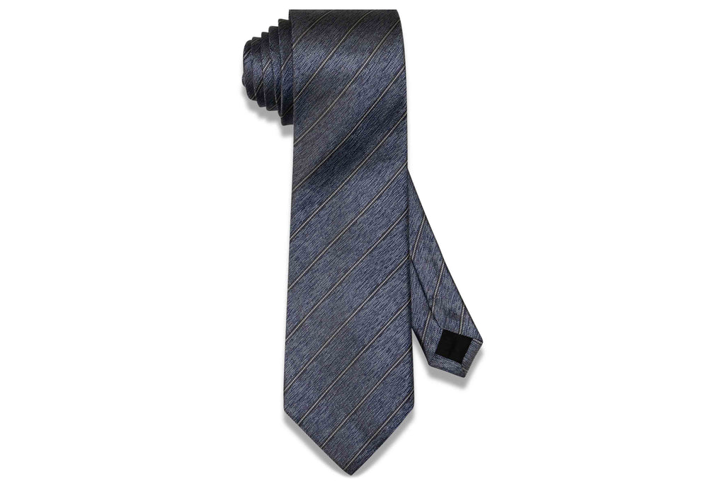 Static Blue Stripes Silk Tie