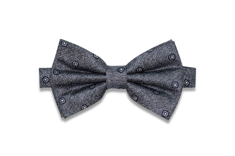 Static Charcoal Silk Bow Tie (pre-tied)