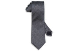 Static Charcoal Silk Tie