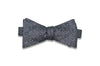 Static Charcoal Silk Bow Tie (self-tie)