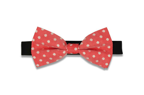 Strawberry Dotted Bow Tie (PRE-TIED)