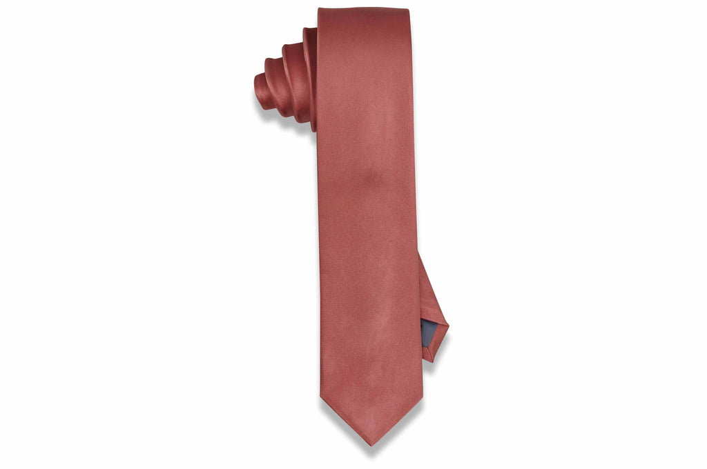 Strawberry Ice Silk Skinny Tie