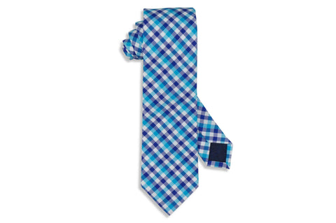 Strike Blue Cotton Tie