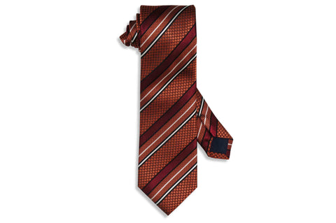 Strike Brown Silk Tie