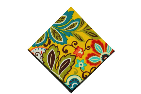 Sun Garden Cotton Pocket Square
