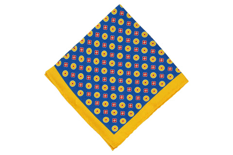 Sun Fields Silk Pocket Square
