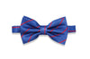 Superman Stripes Silk Bow Tie (pre-tied)