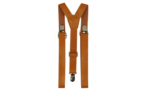 Tan Brown Suspenders