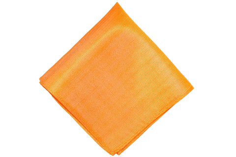 Tangerine Silk Pocket Square