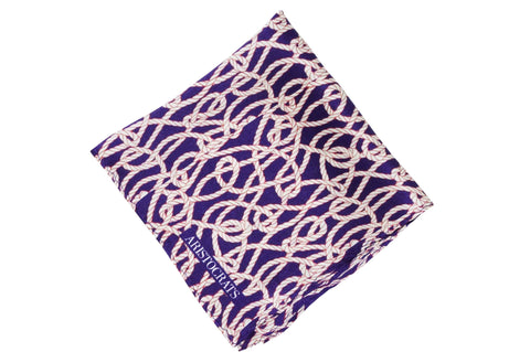 Tangled Ropes Silk Pocket Square