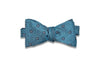 Teal Blue Silk Bow Tie (self-tie)
