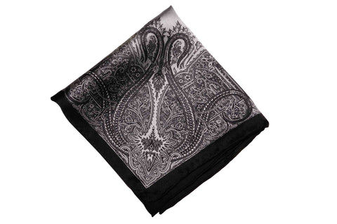 Tedmond Black Silk Pocket Square