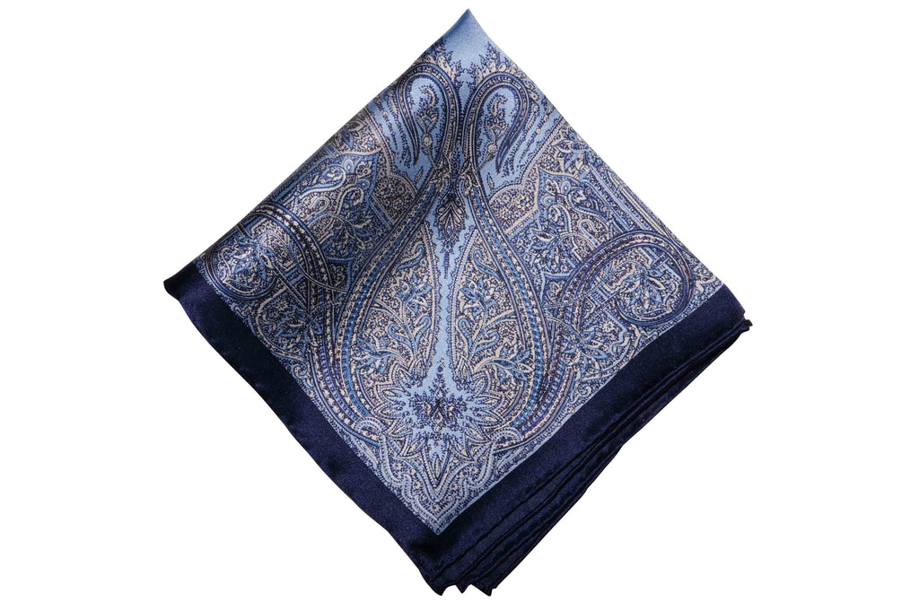 Tedmond Blue Silk Pocket Square