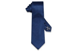 Text Blue Silk Tie