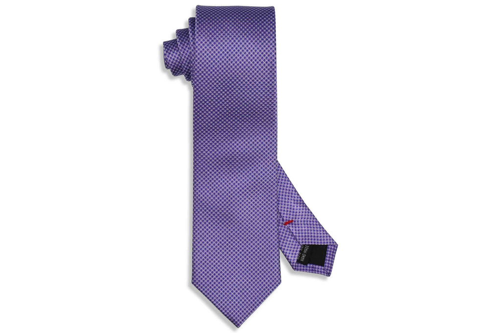 Textured Purple Silk Tie