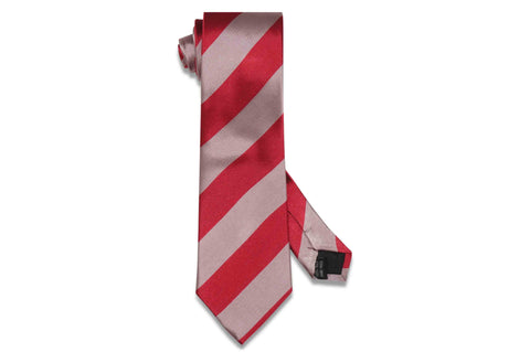 Double Pink Stripes Silk Tie