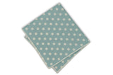 Tiffany Blue Dotted Cotton Pocket Square