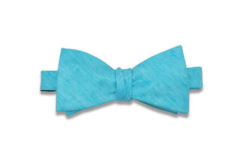 Tiffany Blue Textured Linen Bow Tie (Self-Tie)