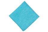 Tiffany Blue Linen Pocket Square