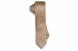 Toasted Almond Silk Skinny Tie