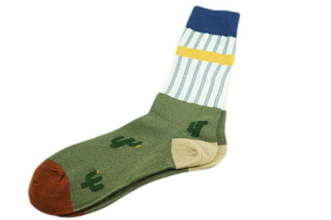 Tri Pattern Green Men's Socks