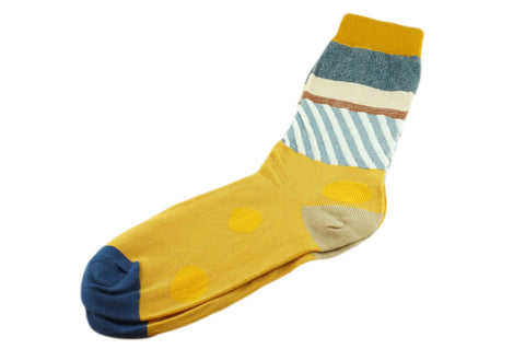 Tri Pattern Yellow Men's Socks