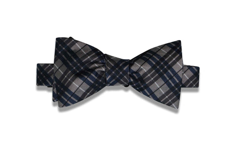 Triple Pine Stripes Silk Bow TIe (self-tie)