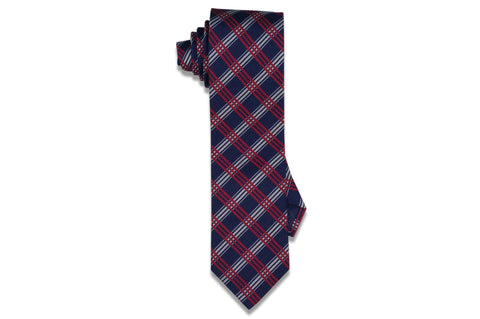 Triple Red Stripes Silk Skinny Tie
