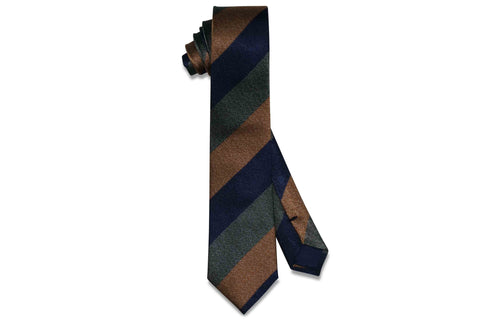 Triple Thick Stripes Silk Skinny Tie