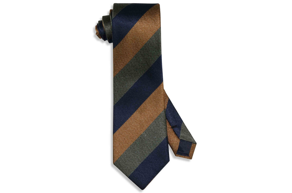 Triple Thick Stripes Silk Tie