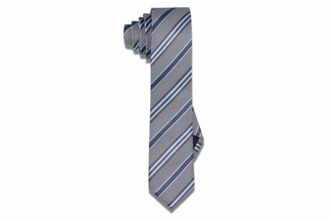 Wallstreet Stripes Silk Skinny Tie