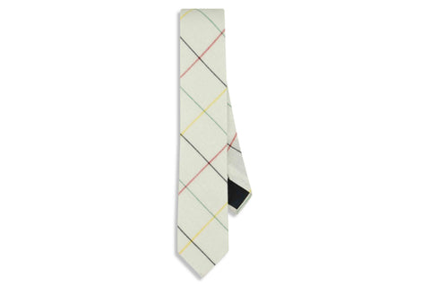 White Boxed Cotton Skinny Tie